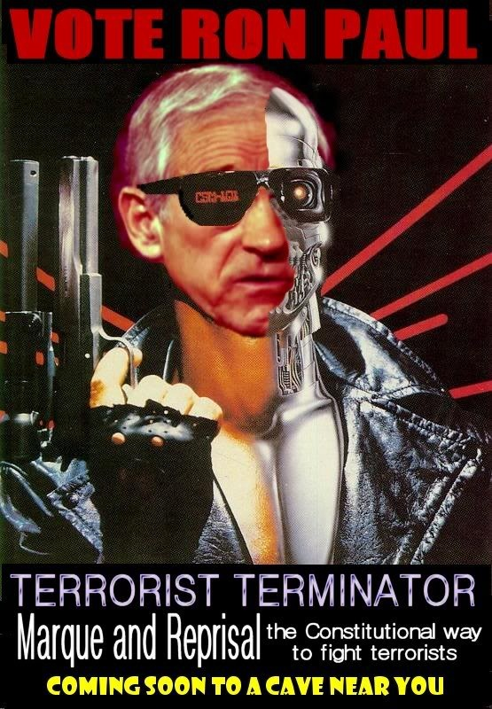 What Obama did unilaterally, Congress could have done with a letter of marque. Ron Paul: Terrorist Terminator.