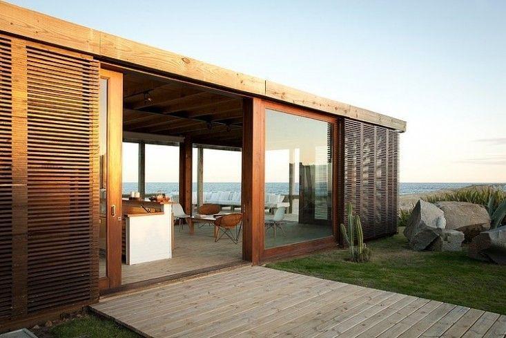 Wooden exterior slates