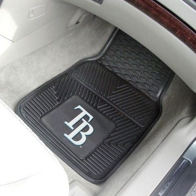 "MLB Tampa Bay Rays 2pc Vinyl Car Mats 17""x27"""