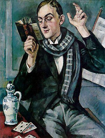 """Poeta (portret Jana Lechonia) "" Roman Kramsztyk, 1919."