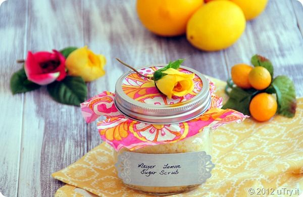 Meyer Lemon Sugar Scrub - Give ma the spa treatment when you make her Mama's Lemon Sugar Scrub. Help mom treat herself with this skin-pampering homemade sugar scrub recipe. Sugar scrubs exfoliate and soften skin while providing a relaxing, feel-good experience. Mom will love how youthful her skin feels after she uses your DIY sugar scrub. Save money on expensive beauty store sugar scrubs, and make your own with natural ingredients.