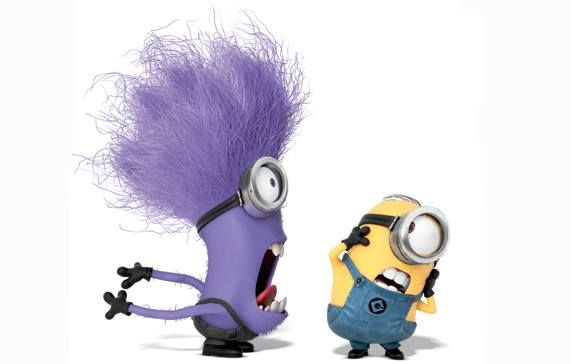 Evil purple minion vs good yellow minion (like the crazy ...