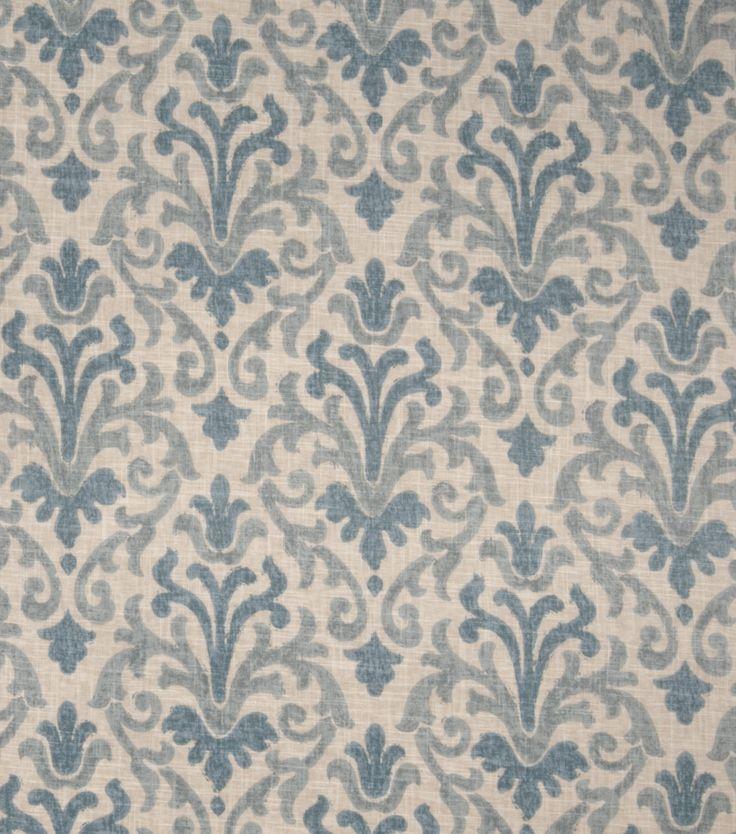 Home Decor 8 X8 Fabric Swatch Jaclyn Smith Cider Lagoon