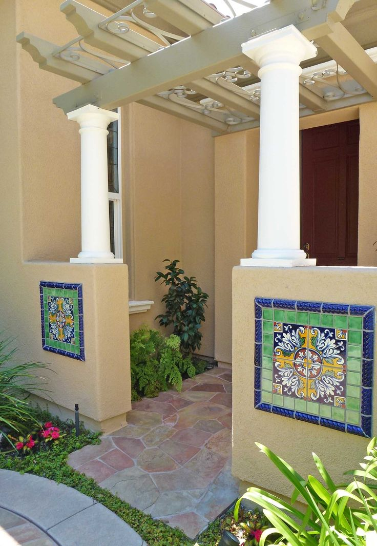 Spanish style home using Mexican tile accents.