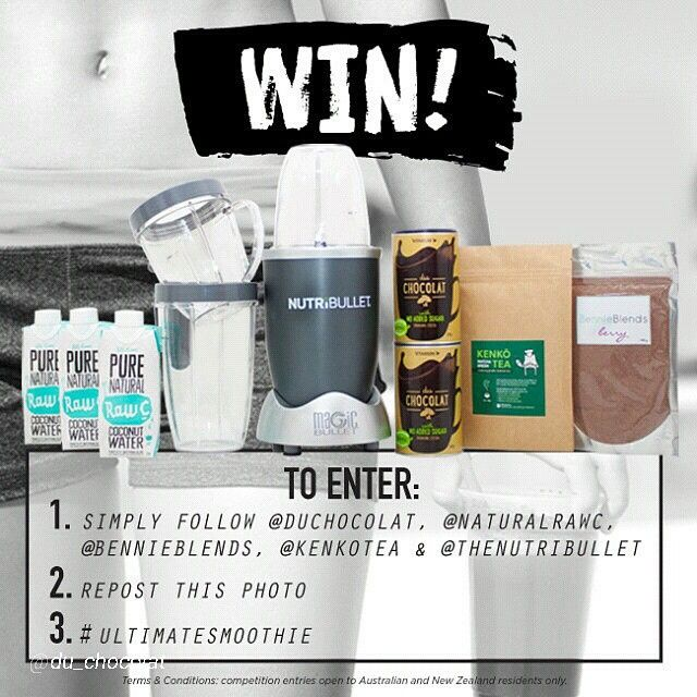"""""""Love making smoothies?  The amazing team  at @du_chocolat have organised this great giveaway! details to enter below :) """"Now as you all know, we luuuurve…"""""""