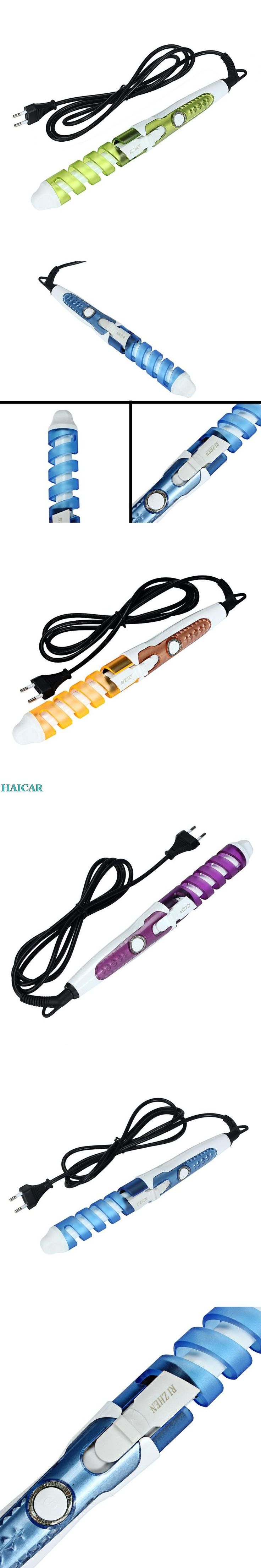 Magic Pro Perfect Hair Curlers Electric Curl Ceramic Spiral Hair Rollers Curling Iron Wand Salon Hair Styling Tools Styler #haircurler