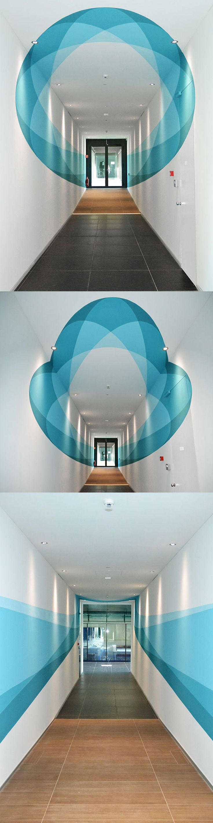 Italian urban artists Truly Design, were commissioned to paint a mural inside the headquarters of the VF Corporation in Switzerland.