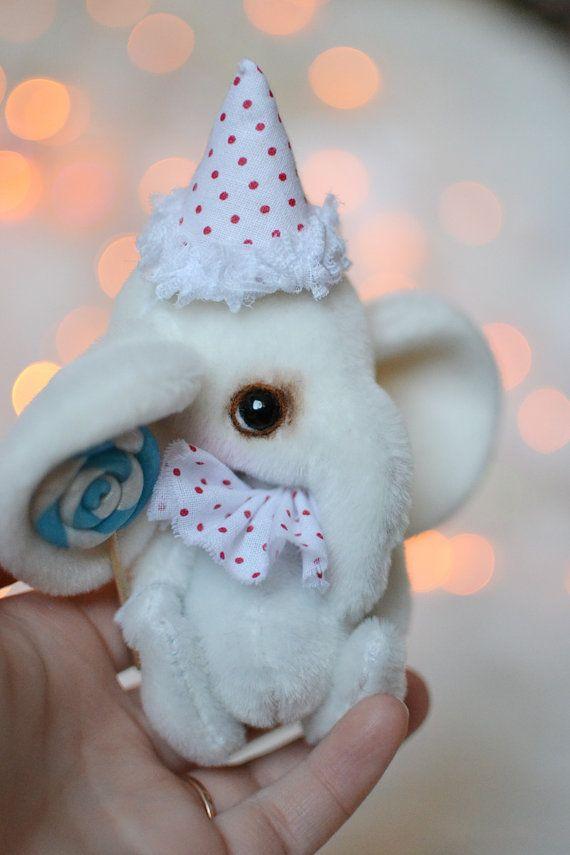 99$ Elephant Tutti artist bear ooak doll animal art toy