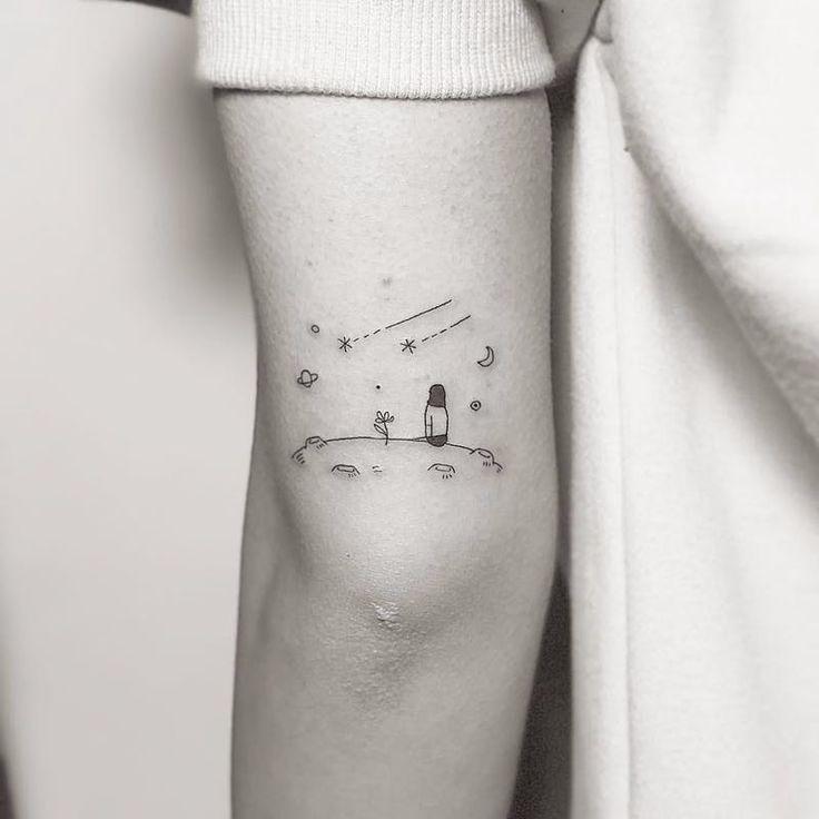 im Weltraum #Masa #linework #minimalist #tattoo #tattoodo