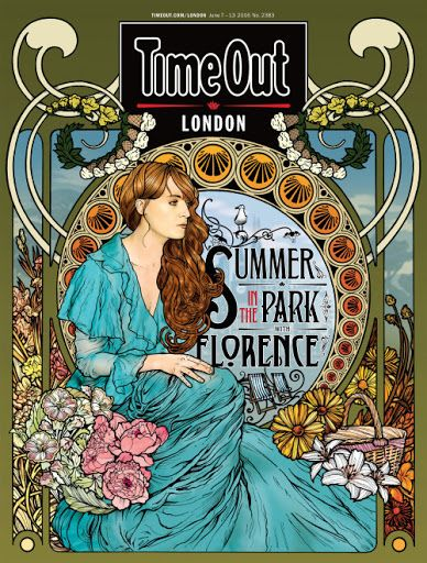Time Out London magazine - cover art featuring Florence and the Machine