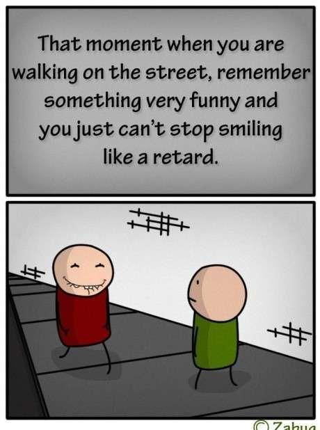 That Akward Moment When...(*idiot....I don't like the word retard...)