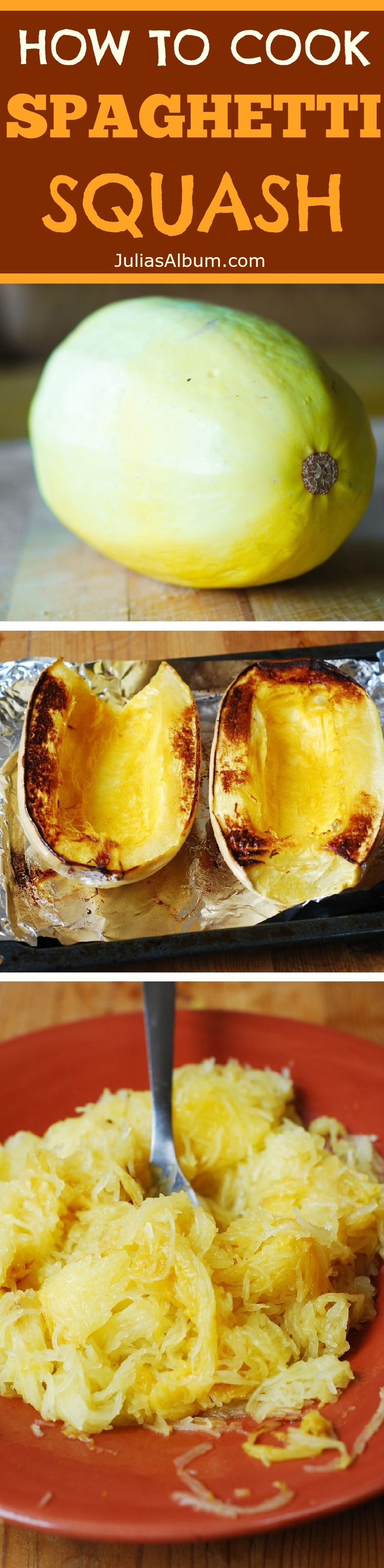 How to roast spaghetti squash in the oven, and 4 great recipes using spaghetti squash! #Thanksgiving #Fall #Autumn