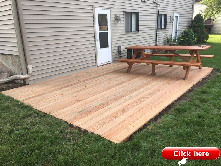 I Built A Ground Level Deck In My Back Yard 2019 Deck Ideas Building A Floating Deck Patio Deck Designs Ground Level Deck