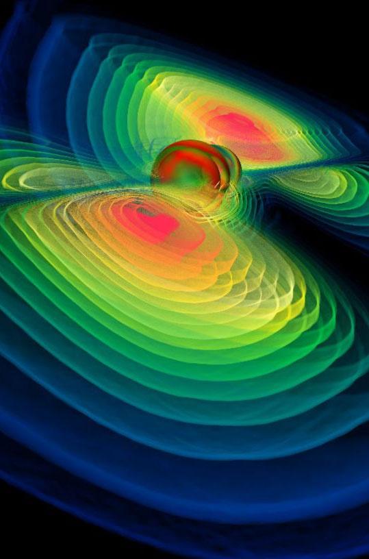 Schwarzes Loch verrät seine Vorgeschichte  Verschmelzen zwei Schwarze Löcher zu einem, so geben die von ihm abgestrahlten Gravitationswellen Auskunft über seine beiden Vorgänger.  http://www.pro-physik.de/details/news/2670541/Schwarzes_Loch_verraet_seine_Vorgeschichte.html