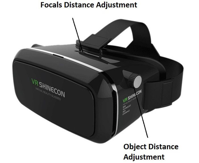 VR Shinecon Virtual Reality 3D Glasses with Bluetooth Controller for Smartphone Black - Tmart