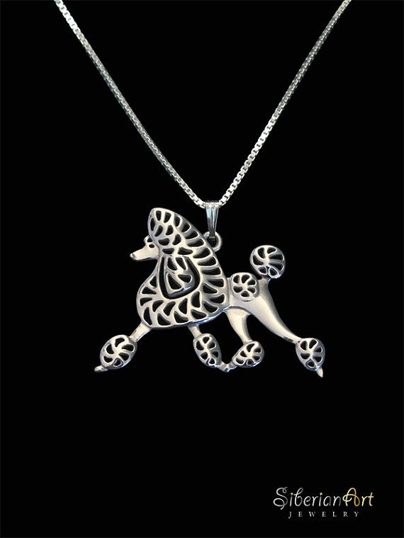 Poodle movement jewelry  sterling silver by SiberianArtJewelry