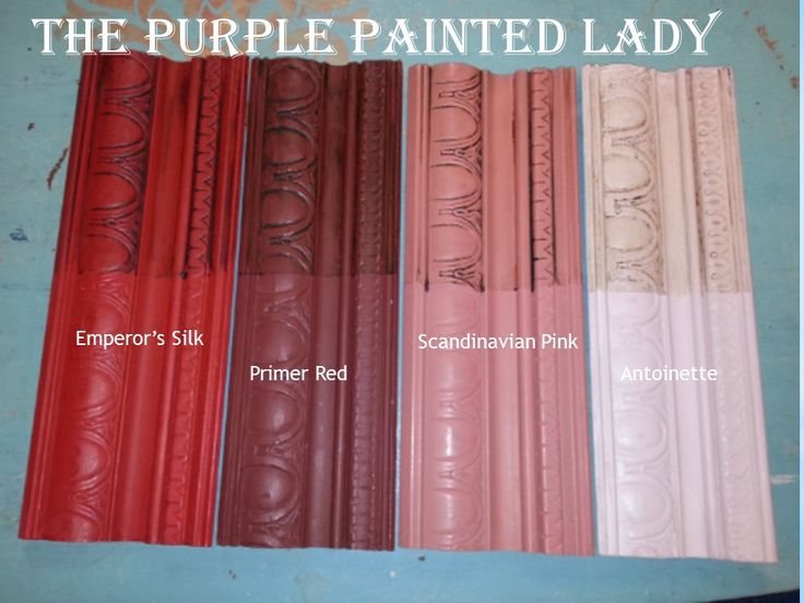 Emperor's Silk Chalk Paint® Sample Board with similar hues by The Purple Painted Lady