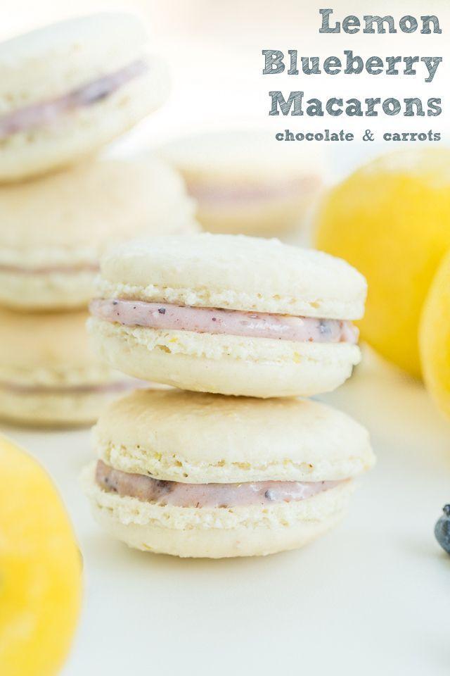 Lemon Blueberry Macarons   chocolateandcarrots.com