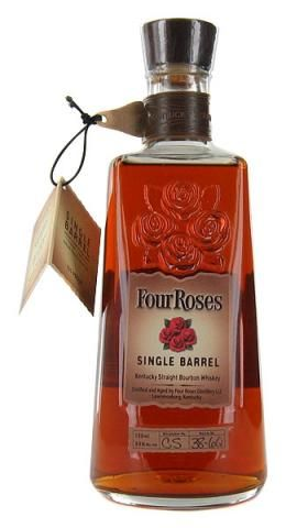 Four Roses Single Barrel Bourbon - a fantastic affordable choice. 750mL for ~$30, and it's delicious with just a few rocks.