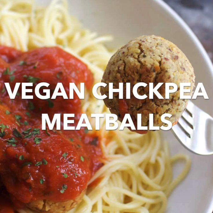 Easy Vegan Meatballs (Made From Chickpeas!)