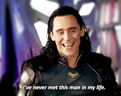 <><> Loki talking about Thor. XD If you go to the site, you can see two gifs of the rest of the scene.