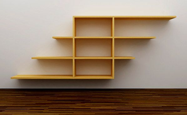 wooden home shelving