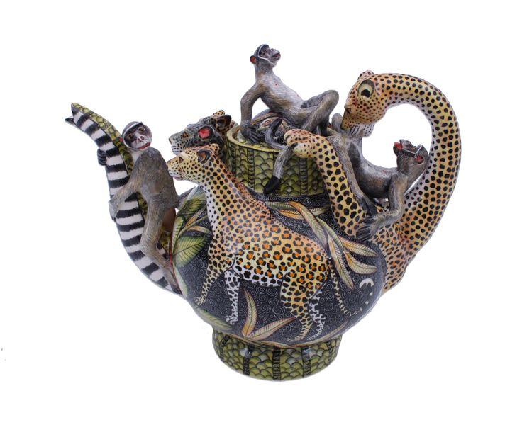 Ardmore Leopard Tea Pot