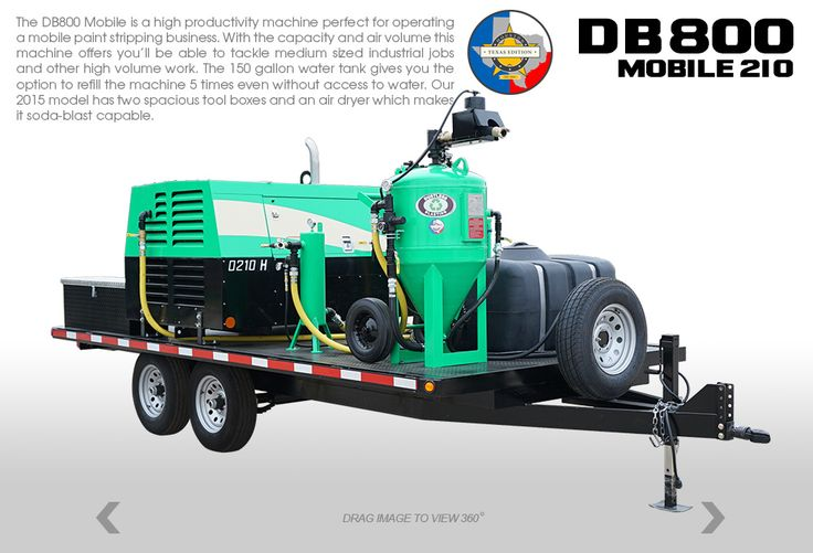 Dustless Blasting DB800 Mobile Soda blasting, Water tank