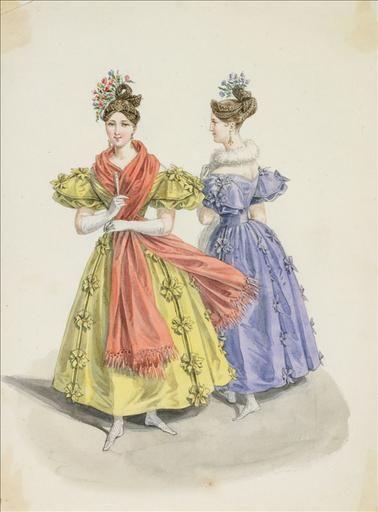 Fashion plate, 1832 France