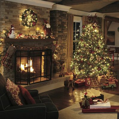 25 Best Ideas About Christmas Fireplace On Pinterest