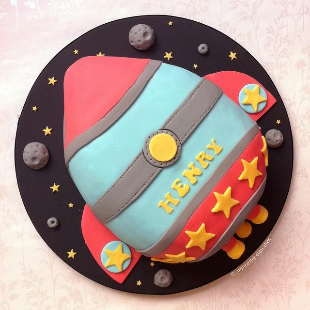 Buzz Lightyear Rocket Ship Birthday Cake