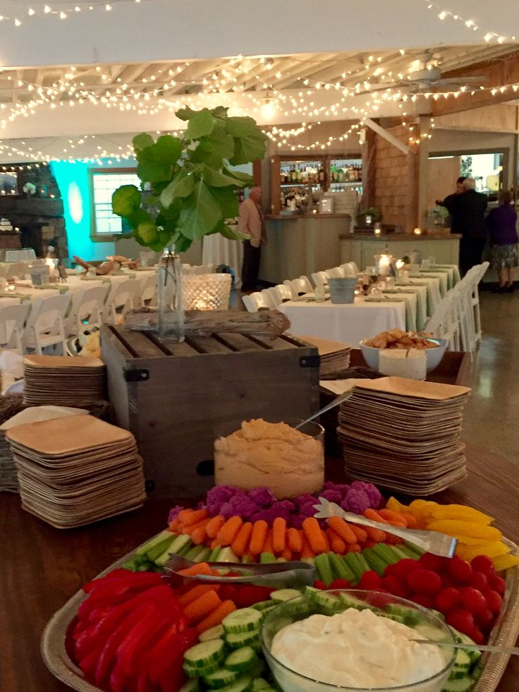 Vegetable and cheese platter at a wedding in York, Maine