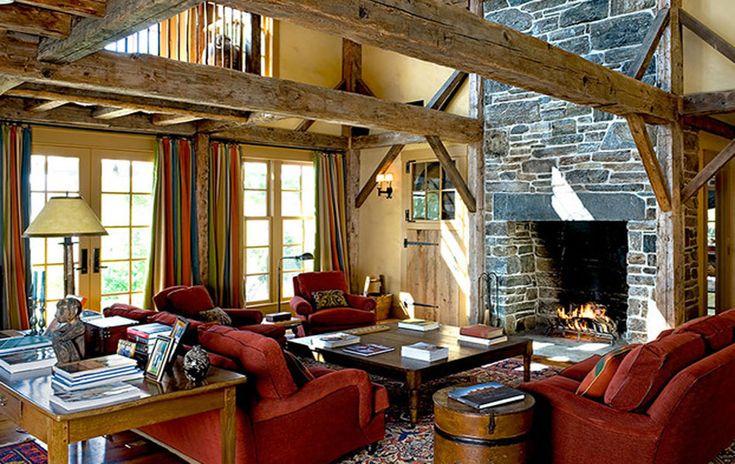 Rustic Living Room Curtains - Living Room Design Ideas - britishpatriotssociety.info