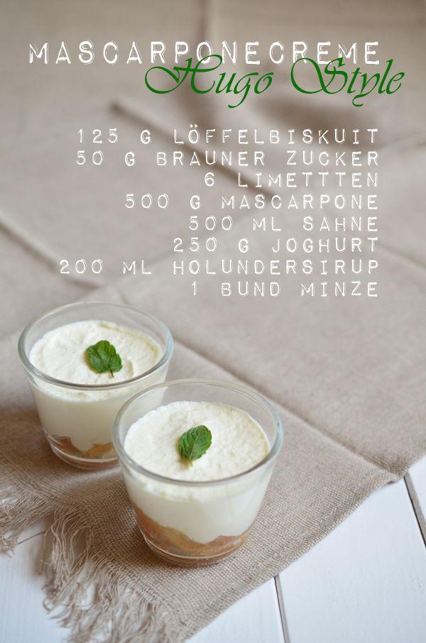 Rezept für Mascarponecreme mit Hugo-Geschmack