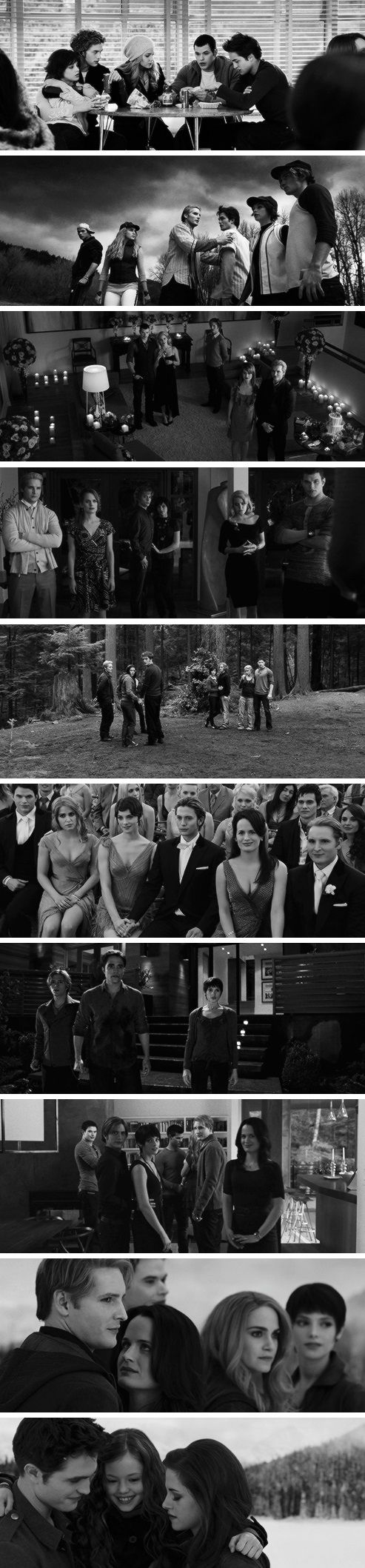The Cullen Family: Twilight to Breaking Dawn Part 2