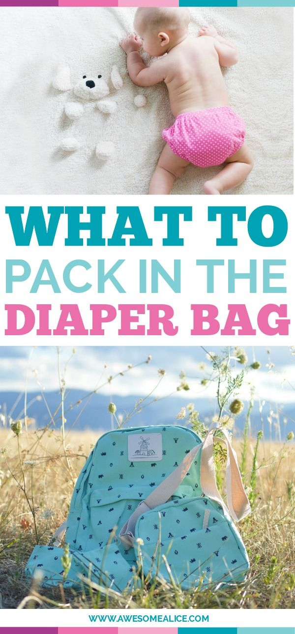 What to pack in the diaper bag when you have a baby or toddler. Click to read how to be prepared for diaper accidents and what you should put on your diaper bag checklist