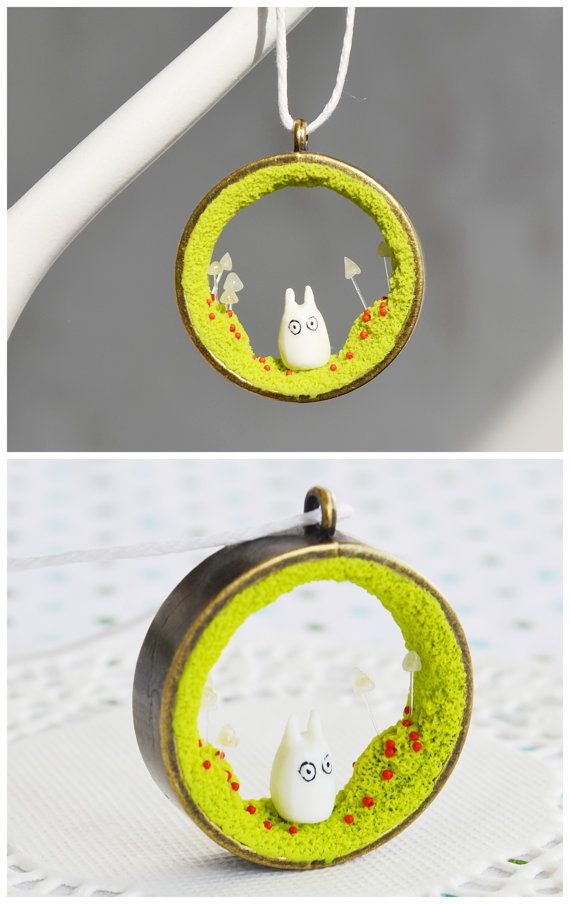 Hey, I found this really awesome Etsy listing at https://www.etsy.com/listing/230850711/miniature-totoro-necklace-miniature