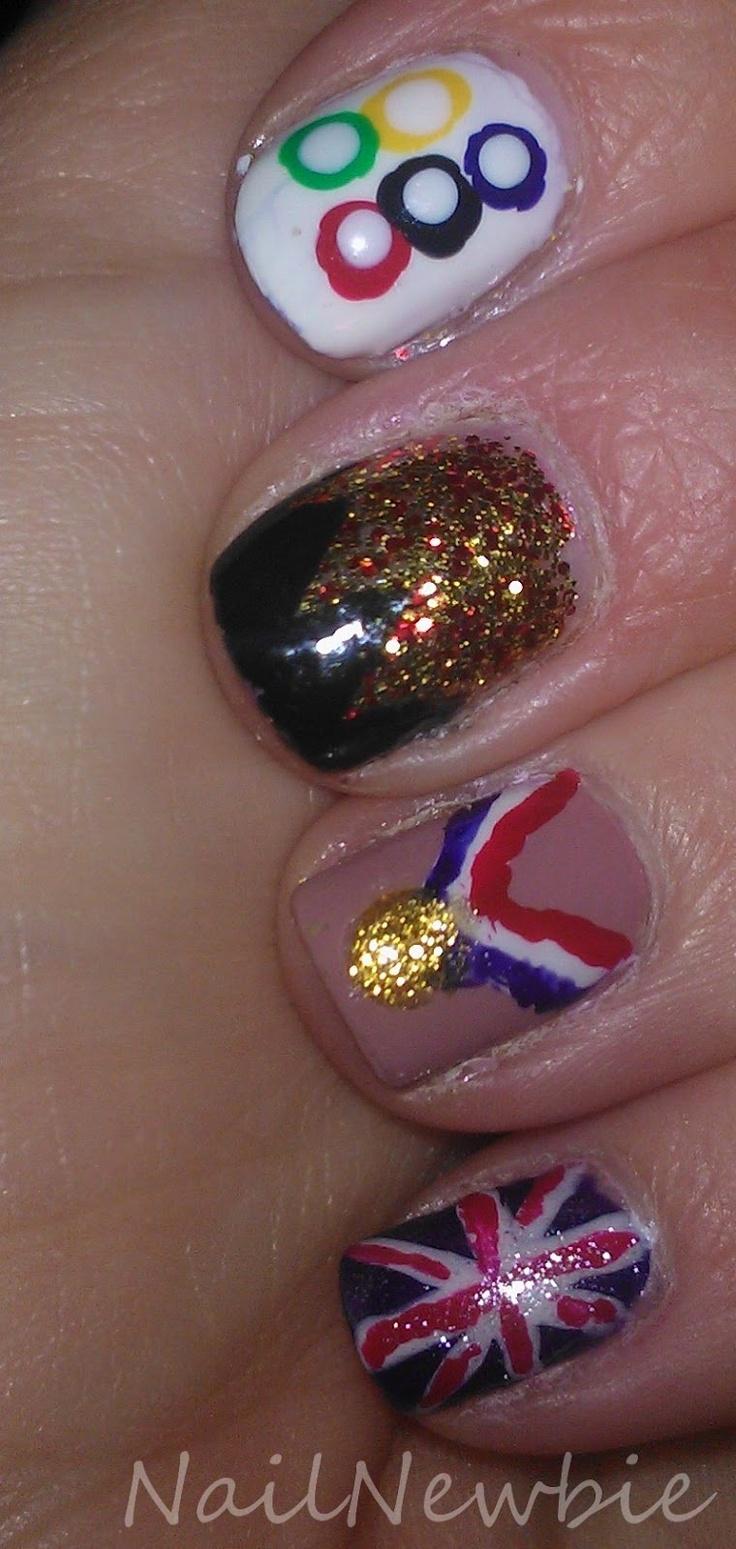 92 best Olympic Nail Art images on Pinterest   Nail art, Nail art ...