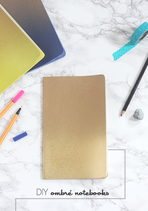 Diy Ombre Book Cover : Best images about handmade notebooks on pinterest