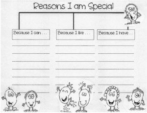 I Am Special. A lesson to help develop individuality and self-confidence in Second Graders.