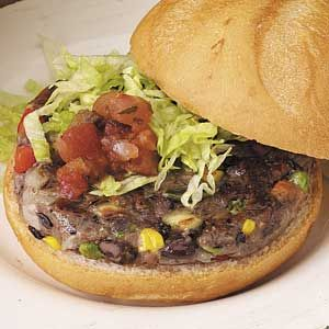 Black Bean Burger. Will freeze patties so that they hold together when cooking.