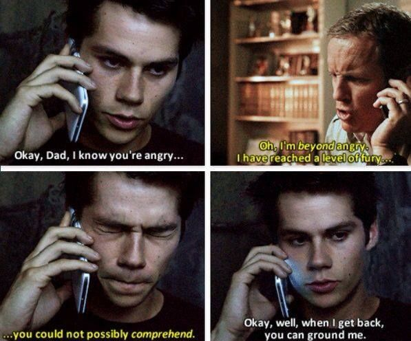 "#TeenWolf 4x12 ""Smoke and Mirrors"" - Stiles and his dad"