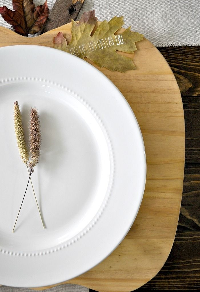 Pumpkin Plate Chargers. Perfect Fall Plate Chargers