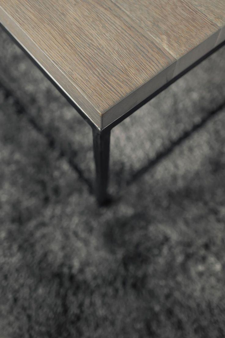 metalen salontafel oud hout blad | www.twoonhuis.nl