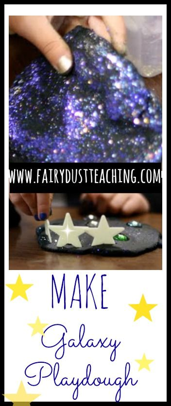 Step by step instructions on how to make your own Galaxy Playdough!