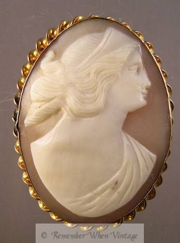 160 best vintage cameo jewelry images on pinterest conditioner hand carved large shell cameo brooch cameos vintage at remember when aloadofball Choice Image