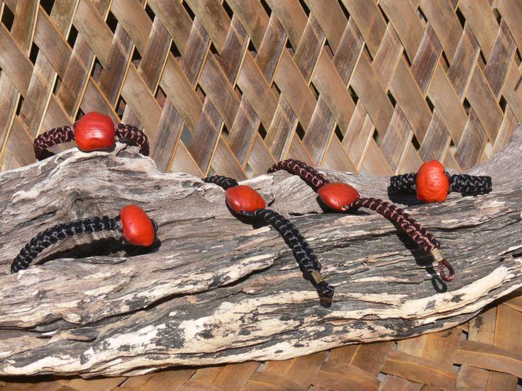 Bracelets: Red Horse-eye bean