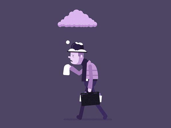 Feeling Under the Weather - Animated Gif on Behance