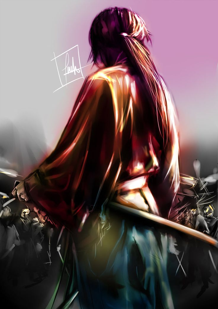 626 best samurai images on pinterest blood fantasy and anime boys kenshin himura battosa with paintool sai wacom pen and touch cth hitokiri battosai voltagebd Gallery