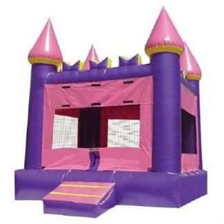 Pink Castle Bounce House by Magic Jump
